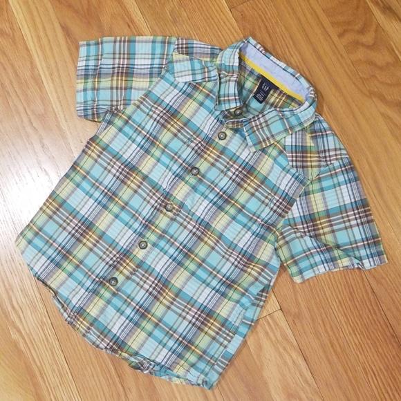 GAP Other - GAP Short-Sleeve Button-up, boys sz 4T